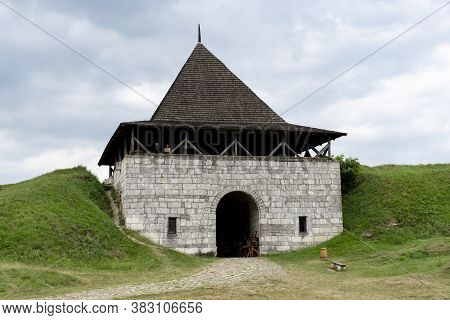 The Entrance At The Territory Of Khotyn Fortress, Ukranian Heritage, Urkanian Historic Building.
