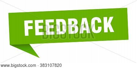 Feedback Speech Bubble. Feedback Green Sign. Banner