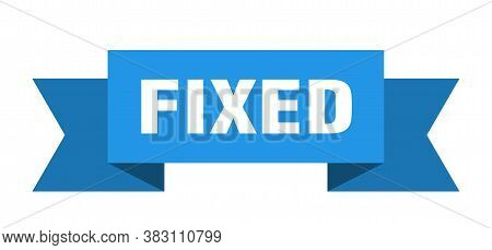 Fixed Ribbon. Fixed Paper Band Banner Sign