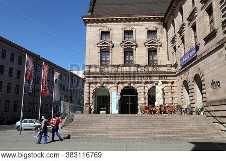 Nuremberg, Germany - May 7, 2018: Nuremberg Transport Museum (verkehrsmuseum Nurnberg) In Germany. N