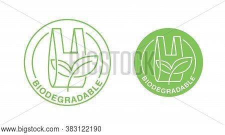 Biodegradable Plastic Packet Sign - Eco Friendly Compostable Material Production - Environment Prote