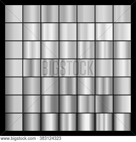 Set Of Gray Gradients. Collection Of Gray Backgrounds. Vector Illustration.