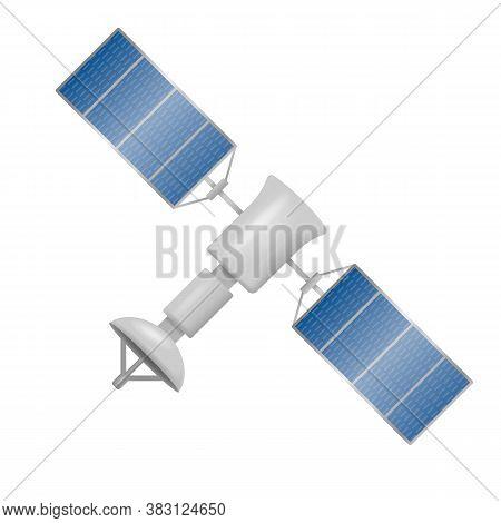 Satellite Isolated On White Background. Vector Illustration.