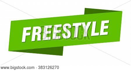Freestyle Banner Template. Freestyle Ribbon Label Sign