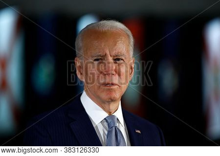 Washington Dc,united States,march 2020,democratic Party Presidential Candidate Joe Biden In Public M