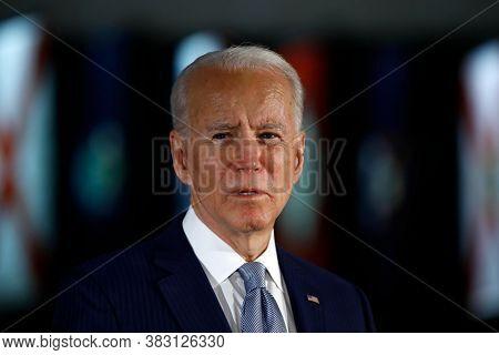 Washington Dc,united States,march 2020,democratic Party Presidential Candidate Joe Biden In Public M