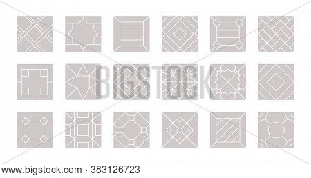 Floor Seamless. Tiles Design For Parquet Laminate Vector Pattern Floor Collection. Illustration Lami