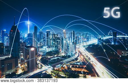 5g Technology. Internet And Networking Concept, New Generation Networks, High-speed Mobile Internet,