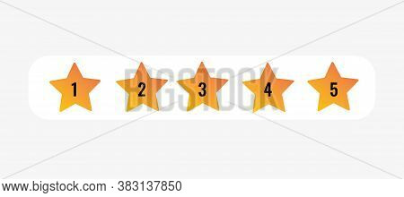 5 Star Rating Icon Vector Illustration Eps10. Isolated Badge For Website, App - Stock Infographics.