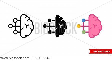 Categorization Sorting Classification Icon Of 3 Types Color, Black And White, Outline. Isolated Vect