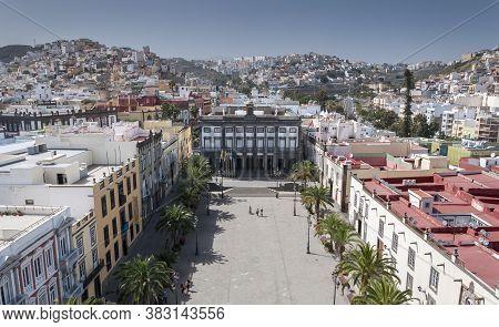 Las Palmas De Gran Canaria - February 17, 2017: Views Of The City Of Las Palmas De Gran Canaria, Can