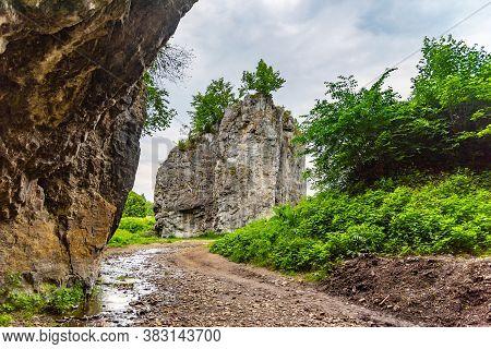 Hrebenac - Uniqe Limestone Rock Formation In Sloup, Moravian Karst, Czech Republic.