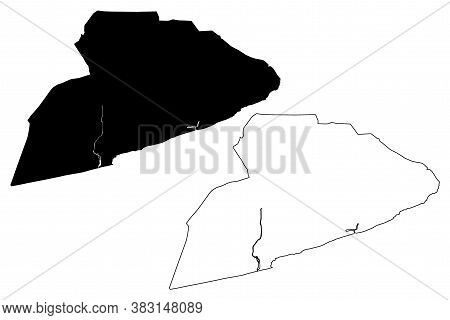 Accra City (republic Of Ghana, Greater Accra Region) Map Vector Illustration, Scribble Sketch City O