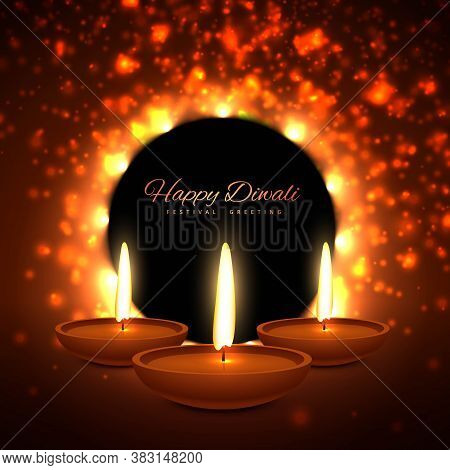 Colroful Diwali Season Greeting Card Vector Design Illustration