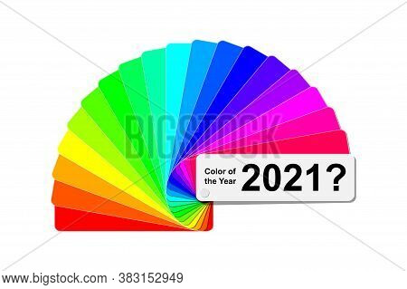 Choice Trend Color Of The Year 2021 Concept, Fanned Color Palette Sample Swatch Book Guide, Paper Or