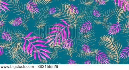 Pattern Banana Leaves. Seafoam Decoration Miami. Pink Leaves Tropical. Africa Tropical. Palm Leaf Dr