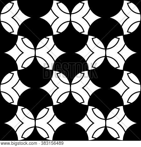 Seamless Surface Pattern Design With Quatrefoil Figures. Oriental Traditional Ornament With Repeated