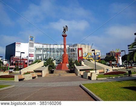 Lima / Peru - 30 Apr 2011: The Monument In Lima, Peru, South America