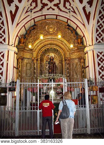 Lima / Peru - 30 Apr 2011: Cathedral, Iglesia Y Convento De San Francisco, The Church In Lima, Peru,