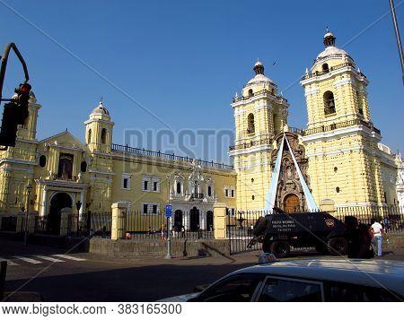 Lima / Peru - 01 May 2011: Cathedral, Iglesia Y Convento De San Francisco, The Church In Lima, Peru,