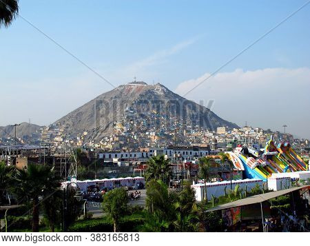 Lima / Peru - 01 May 2011: The View Cerro San Cristobal, The Mountain Close Lima City, Peru, South A