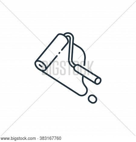 paint roller icon isolated on white background from interior design collection. paint roller icon tr