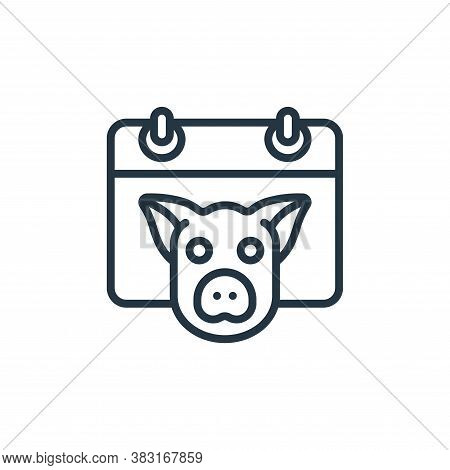 pig icon isolated on white background from chinese new year collection. pig icon trendy and modern p