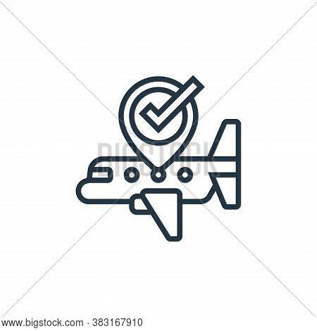 airplane icon isolated on white background from airport collection. airplane icon trendy and modern