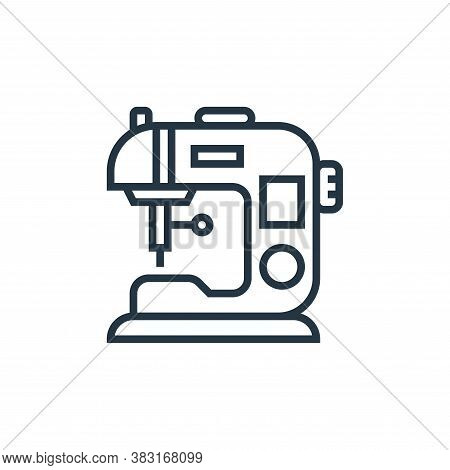 sewing machine icon isolated on white background from home appliances collection. sewing machine ico