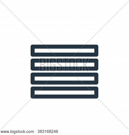 bars icon isolated on white background from finance collection. bars icon trendy and modern bars sym