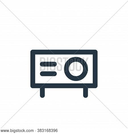 projector icon isolated on white background from education collection. projector icon trendy and mod