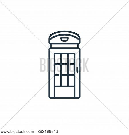 telephone booth icon isolated on white background from england collection. telephone booth icon tren