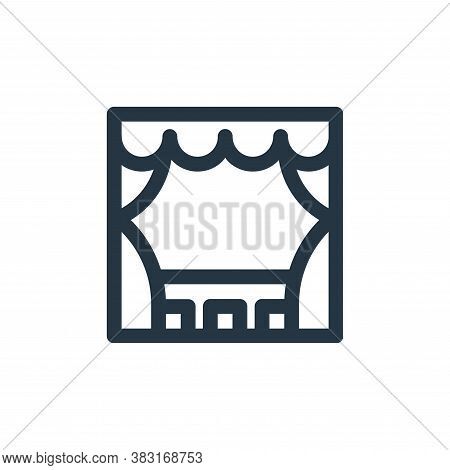 stage icon isolated on white background from arts collection. stage icon trendy and modern stage sym