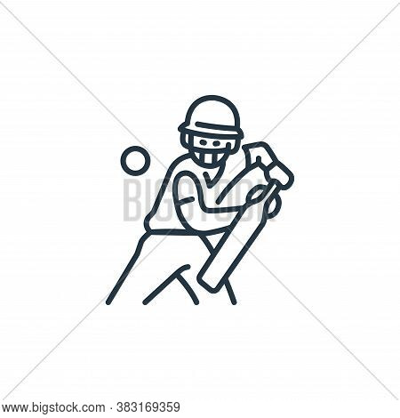 cricket icon isolated on white background from england collection. cricket icon trendy and modern cr