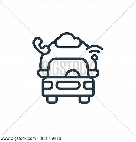 ecosystem icon isolated on white background from electric vehicle collection. ecosystem icon trendy