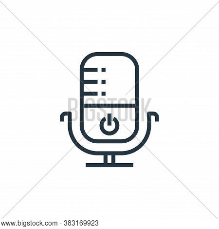 microphone icon isolated on white background from smarthome collection. microphone icon trendy and m