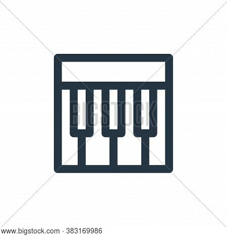 piano icon isolated on white background from arts collection. piano icon trendy and modern piano sym