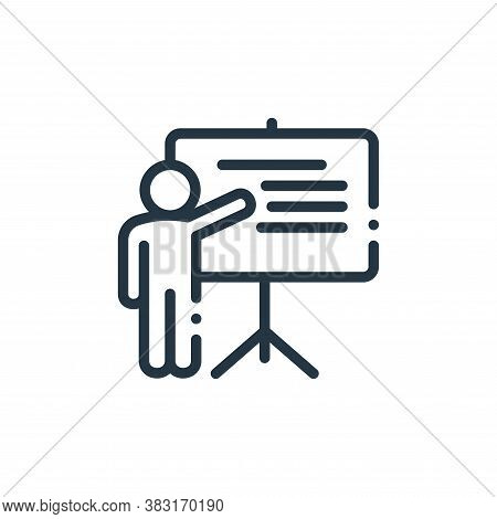 teaching icon isolated on white background from education collection. teaching icon trendy and moder