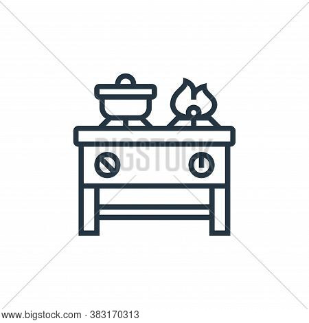 gas stove icon isolated on white background from home appliances collection. gas stove icon trendy a