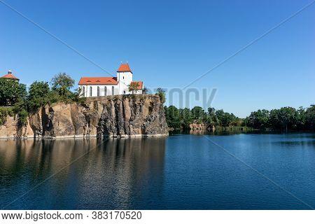 Famous Mountain Church In Beucha Near Brandis. Saxony. Germany