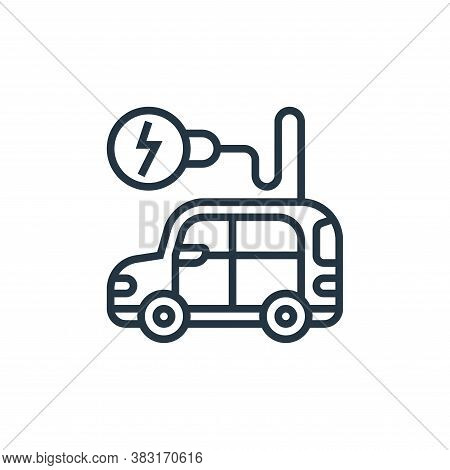 electric vehicle icon isolated on white background from electric vehicle collection. electric vehicl
