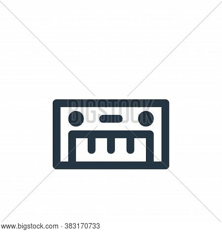 piano keyboard icon isolated on white background from arts collection. piano keyboard icon trendy an