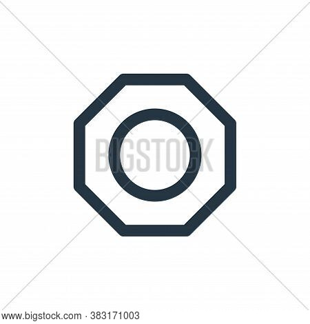 nut icon isolated on white background from laboor and tools collection. nut icon trendy and modern n
