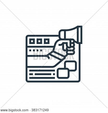 online advertising icon isolated on white background from digital marketing collection. online adver