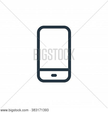 smartphone icon isolated on white background from media collection. smartphone icon trendy and moder