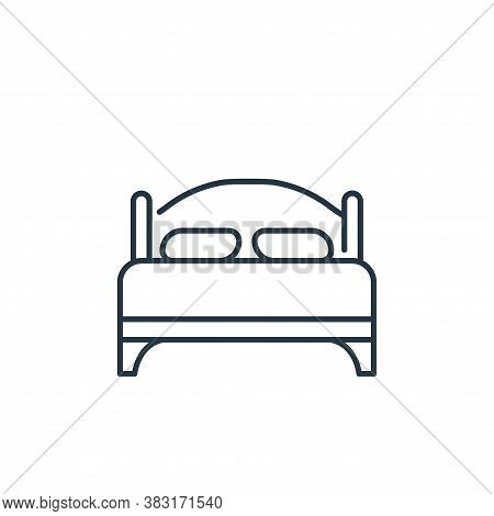 bed icon isolated on white background from interior design collection. bed icon trendy and modern be