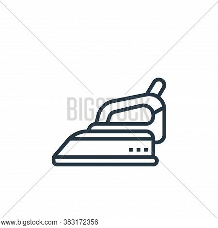 electric iron icon isolated on white background from home appliances collection. electric iron icon