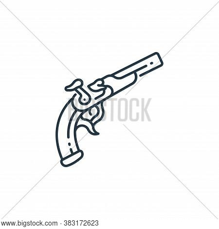 gun icon isolated on white background from pirate collection. gun icon trendy and modern gun symbol
