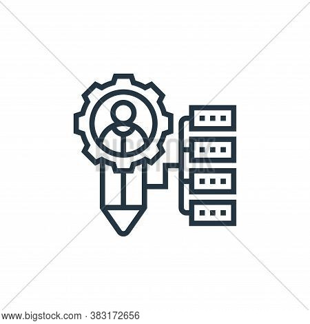customer icon isolated on white background from digital marketing collection. customer icon trendy a