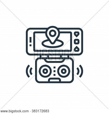 smart control icon isolated on white background from drone elements collection. smart control icon t